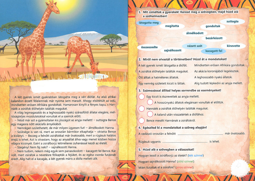 """Képtalálat a következőre: """"szöveges feladatok afrika állataival"""""""